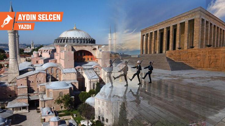 Ayasofya'dan Anıtkabir'e şahin uçurdum