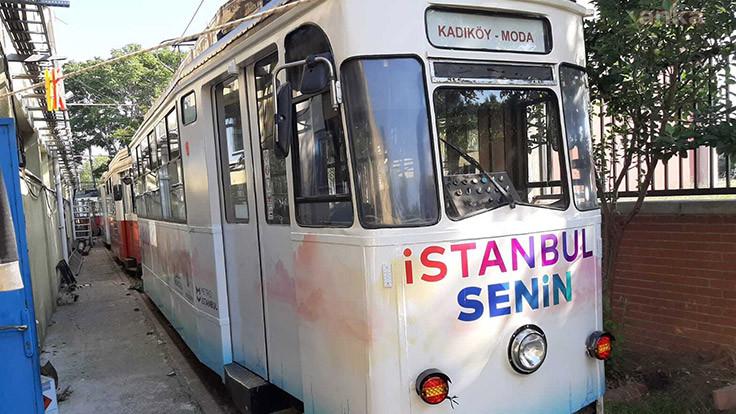 Kadıköy-Moda tramvayı yenilendi