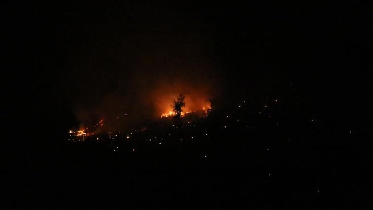 Adana'daki orman yangınına havadan müdahaleye ara verildi