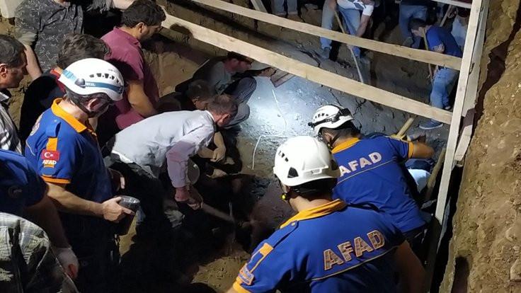 Samsun'da göçük: 2 ölü