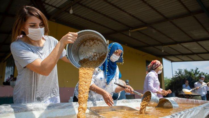 Kadınlar yerli tohumla bulgur üretti