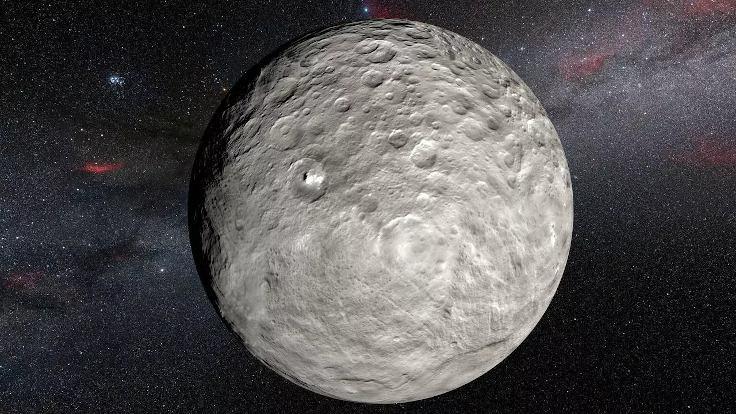 Ceres'teki parlak alanların gizemi çözüldü