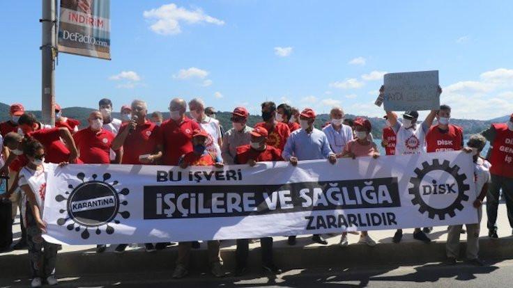 DİSK'ten Dardanel protestosu