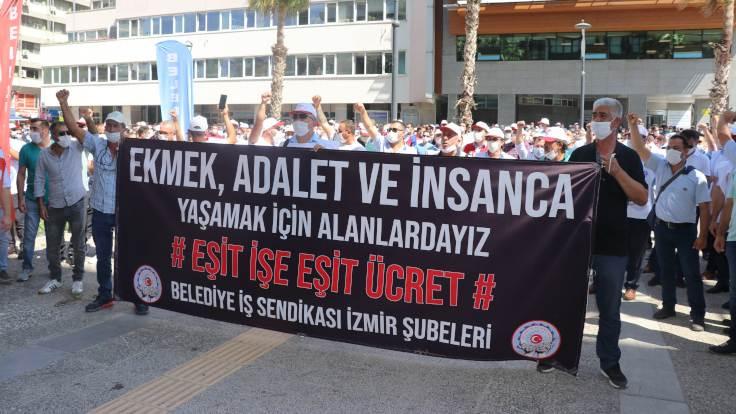 İzmir ve Mersin belediyelerine grev kararı asıldı