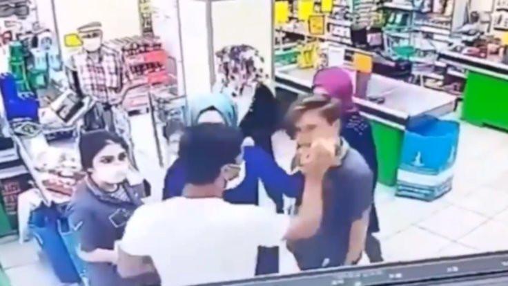 Sancaktepe'de markette kadına şiddet