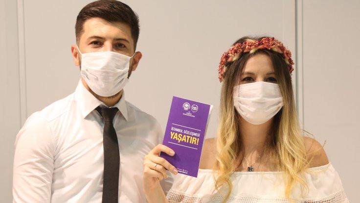 Evlenen çiftlere İstanbul Sözleşmesi