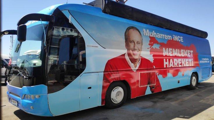 Muharrem İnce otobüsünü paylaştı