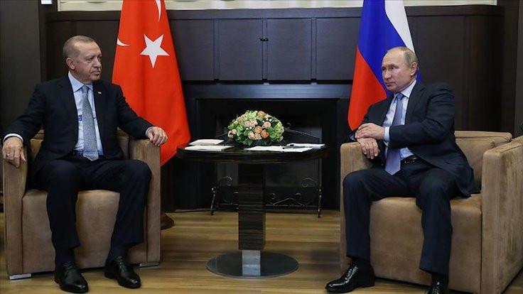 Erdoğan Putin'le Suriye ve Libya'yı görüştü