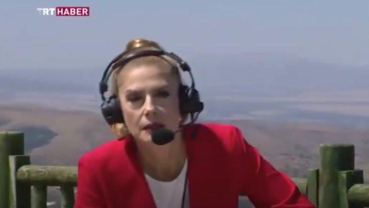 TRT spikeri canlı yayında bayıldı