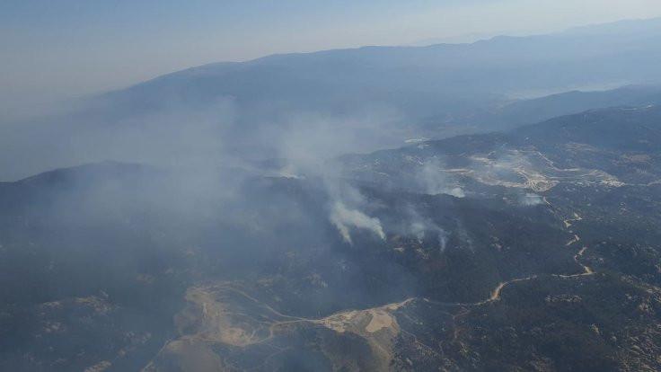 Aydın'da başlayan yangın Muğla'ya ulaştı