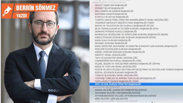 CİMER listesinde Fahrettin Altun'la köşe kapmaca