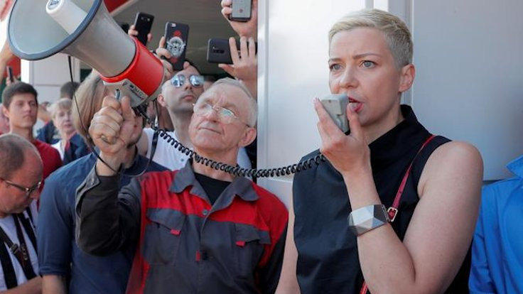 Belarus'ta kadın muhalif lider kaçırıldı