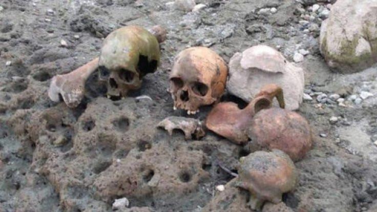 Göletten kafatası ve kemikler çıktı