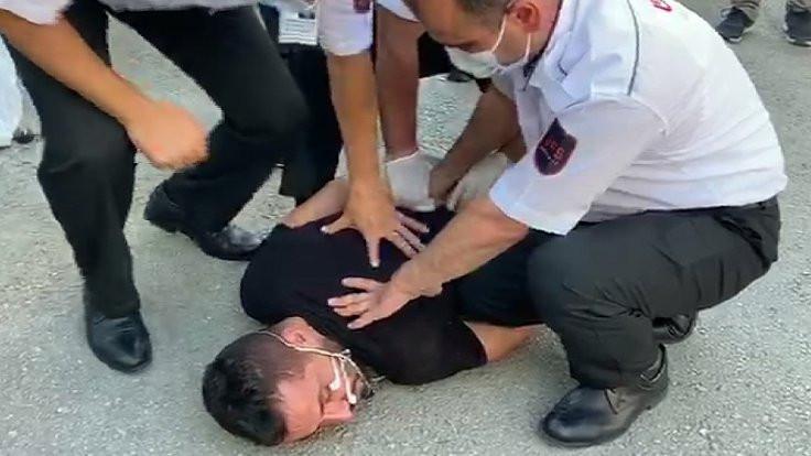 AA binasına girmek isteyen baltalı kişi gözaltında