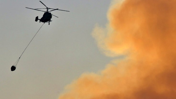 Adana'daki yangına havadan müdahale tekrar başladı