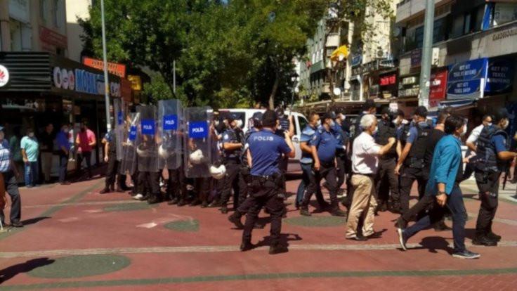 KHK yürüyüşçüleri darp edilerek gözaltına alındı