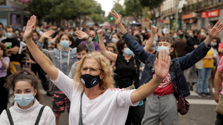 Madrid'de salgına karşı ordudan destek talebi