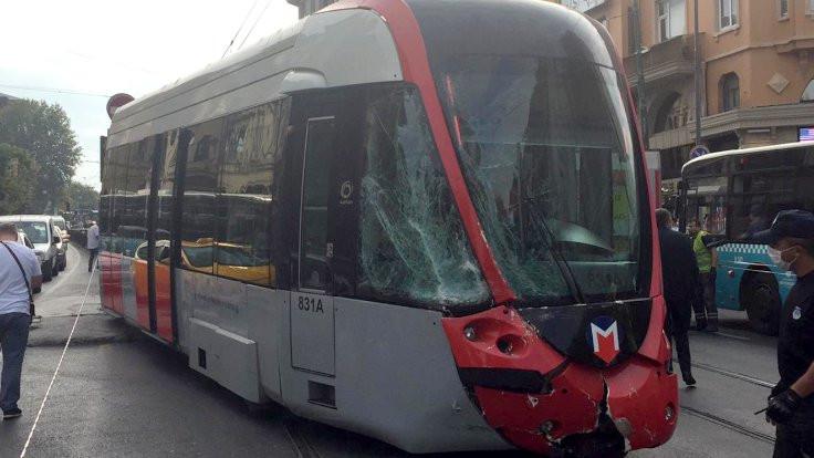 Fatih'te tramvay kazası