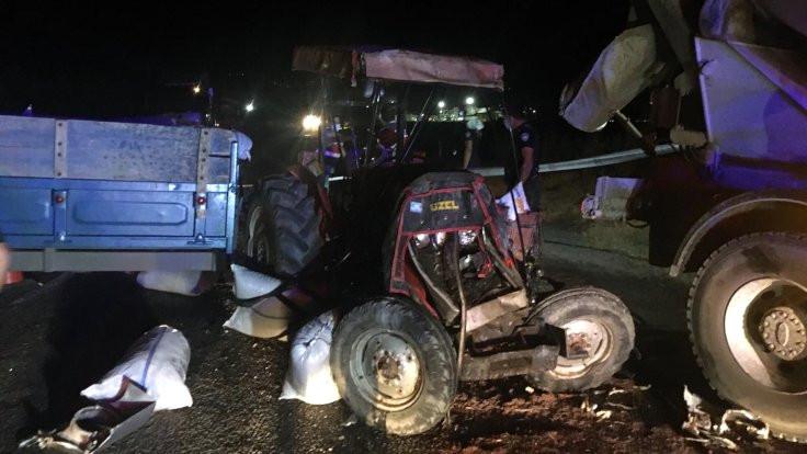 Çaldığı traktörle kaza yaptı, öldü