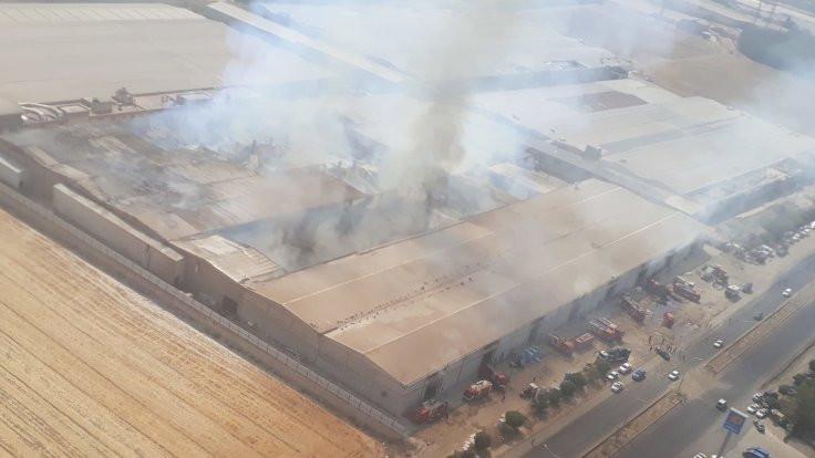Kahramanmaraş'ta iki fabrikada yangın