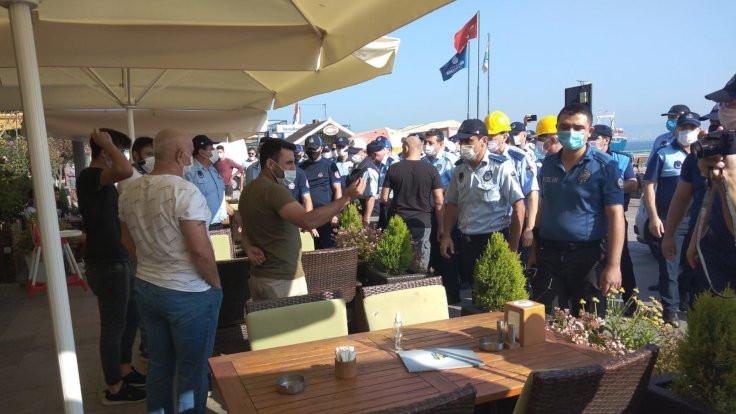 Heybeliada'da İBB'nin yıkımına tepki