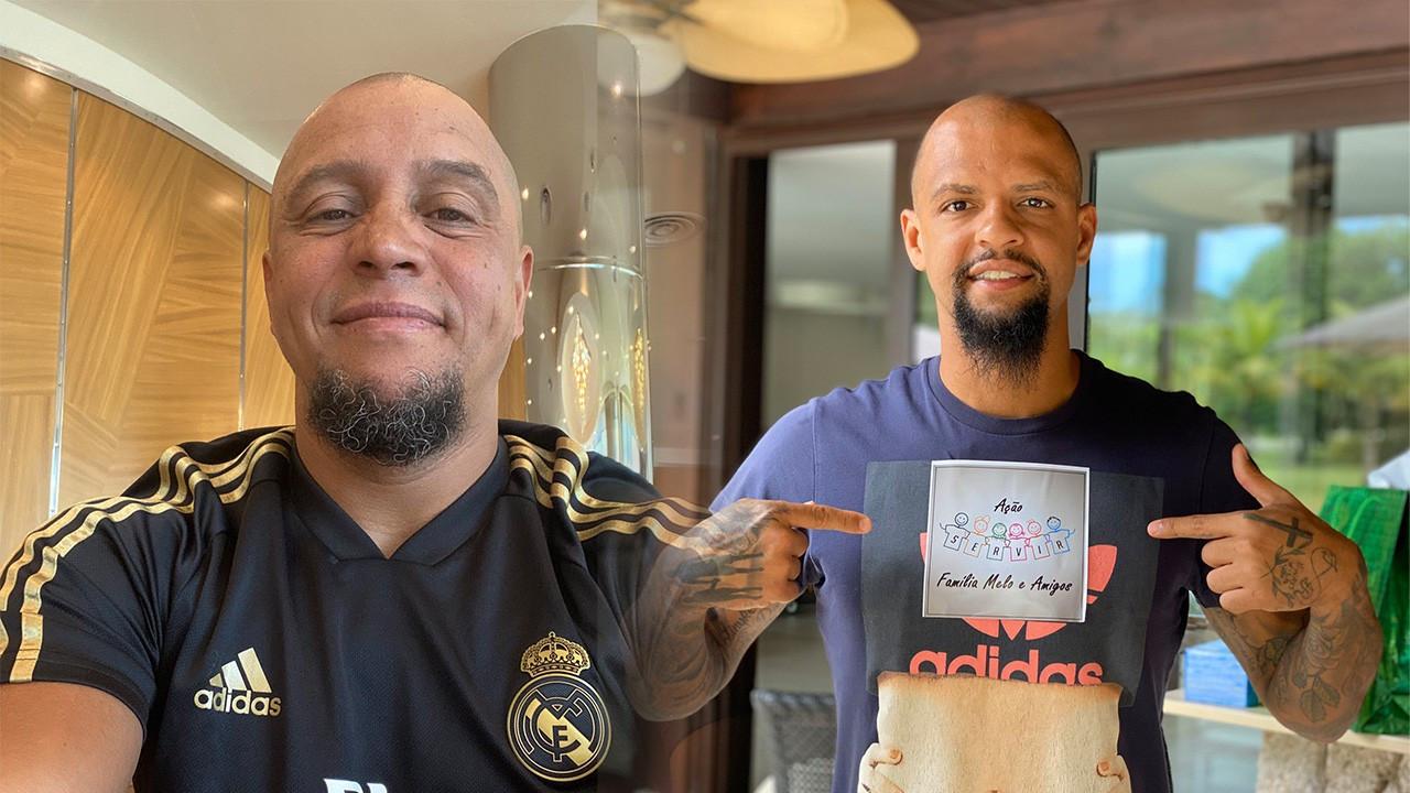 Derbi öncesi Roberto Carlos ve Felipe Melo atıştı