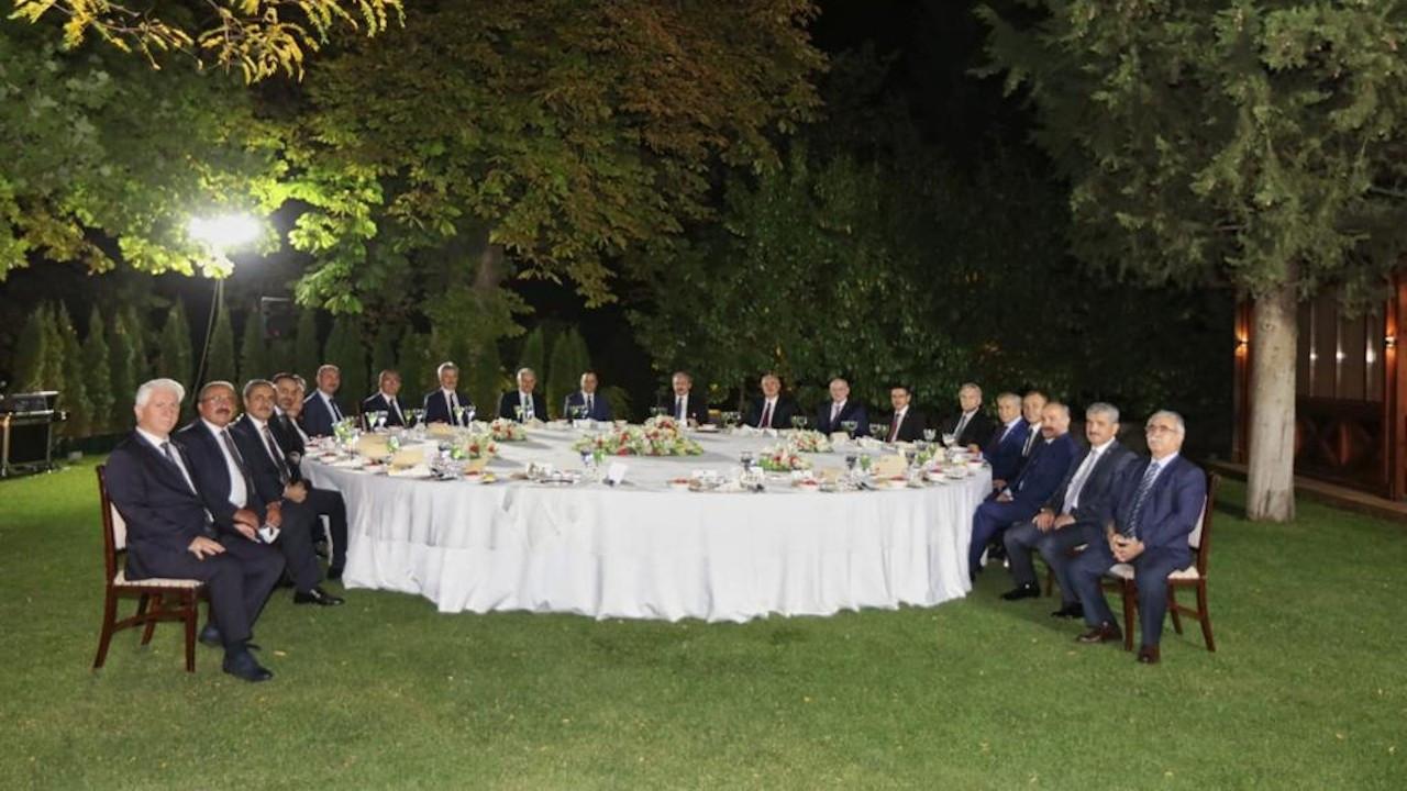 Meclis başkanından yüksek yargı üyelerine yemek