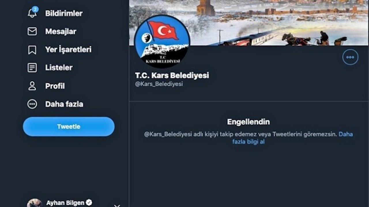 Kars Belediyesi Ayhan Bilgen'i engelledi