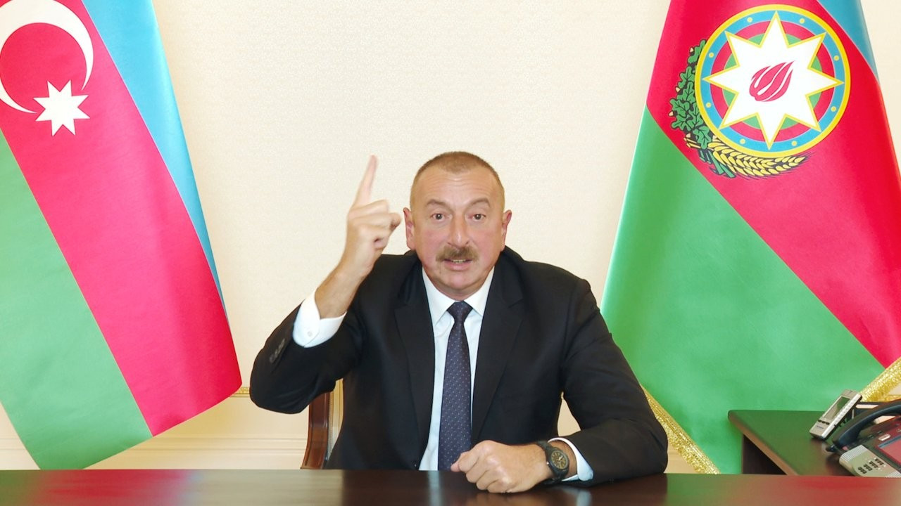 Aliyev: Kimse Bakü'nün Dağlık Karabağ'daki iradesini etkileyemez