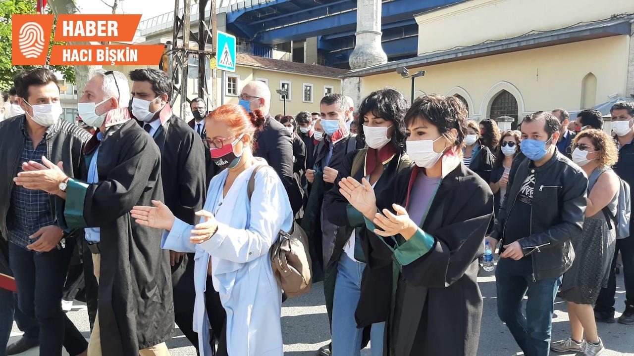 Haliç'e yürüyen avukatlara polis engeli