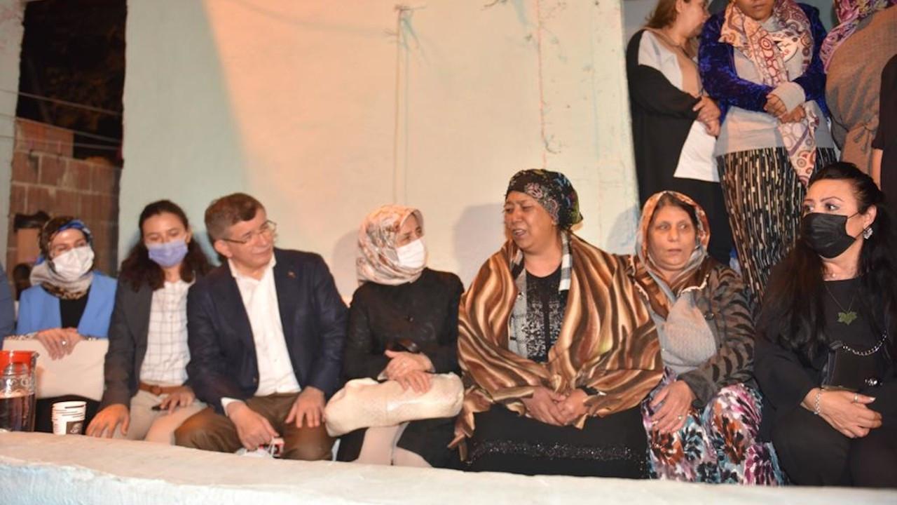 Davutoğlu'ndan eşi tarafından katledilen Gülüm'ün ailesine ziyaret