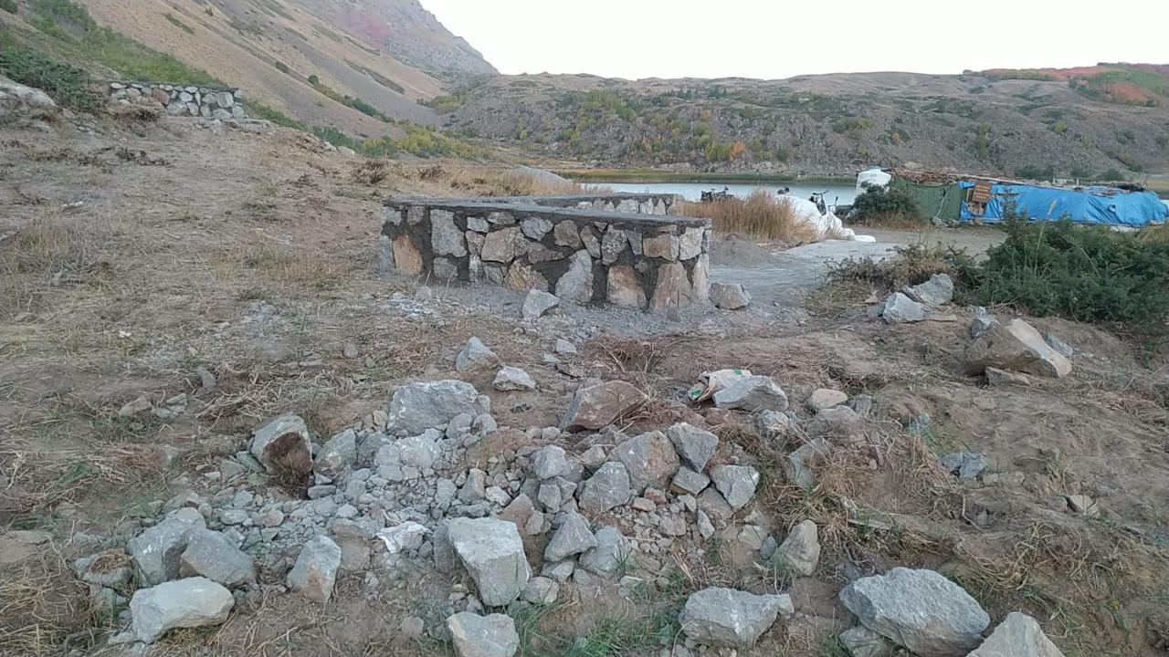 Nemrut'ta durdurulan inşaat yeniden başladı