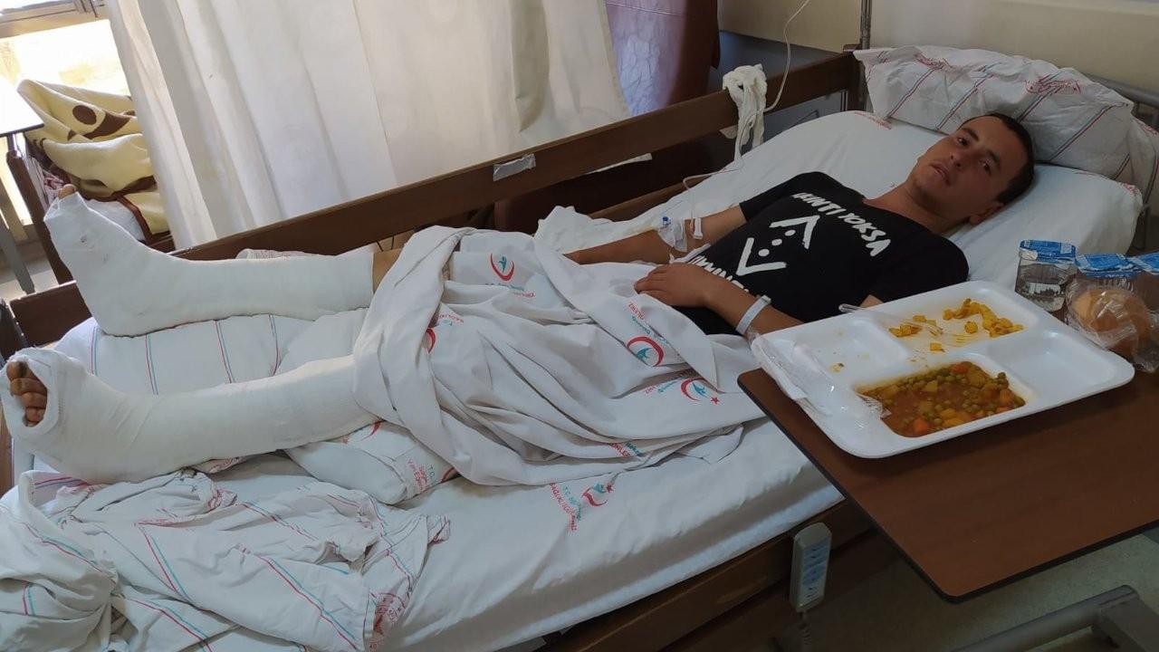 Afgan mülteciyi üçüncü kattan attılar