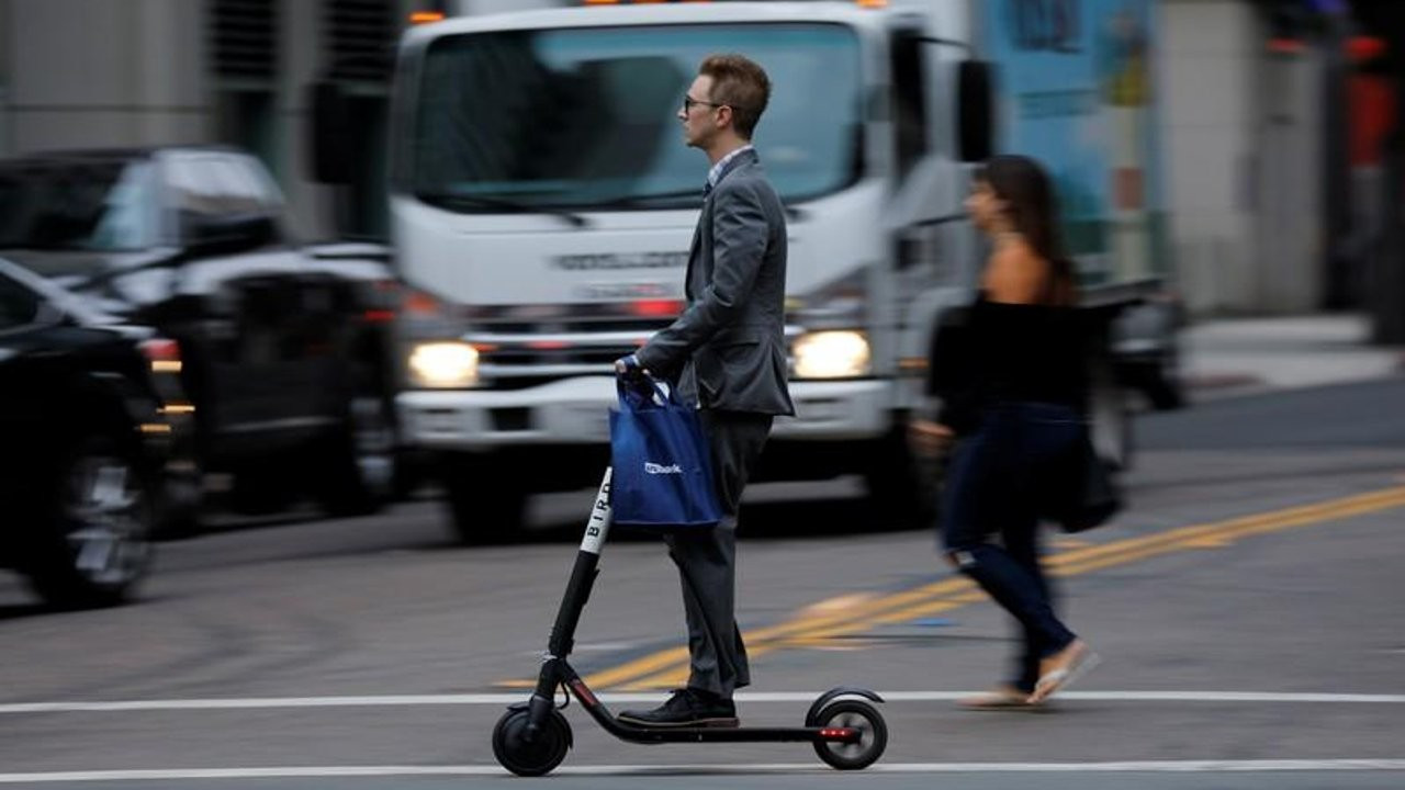 58 kilometre hız yapan scooter'a polis el koydu