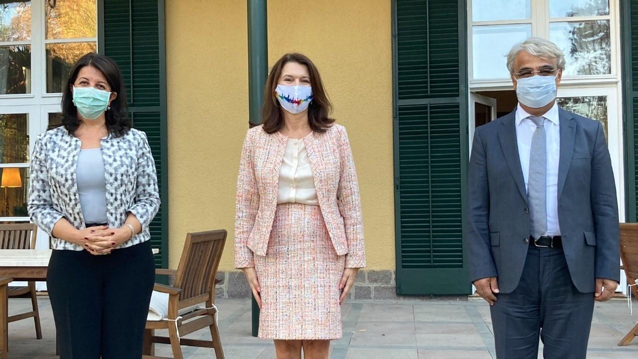Buldan ve Sancar'dan İsveç Dışişleri Bakanı Linde'ye ziyaret