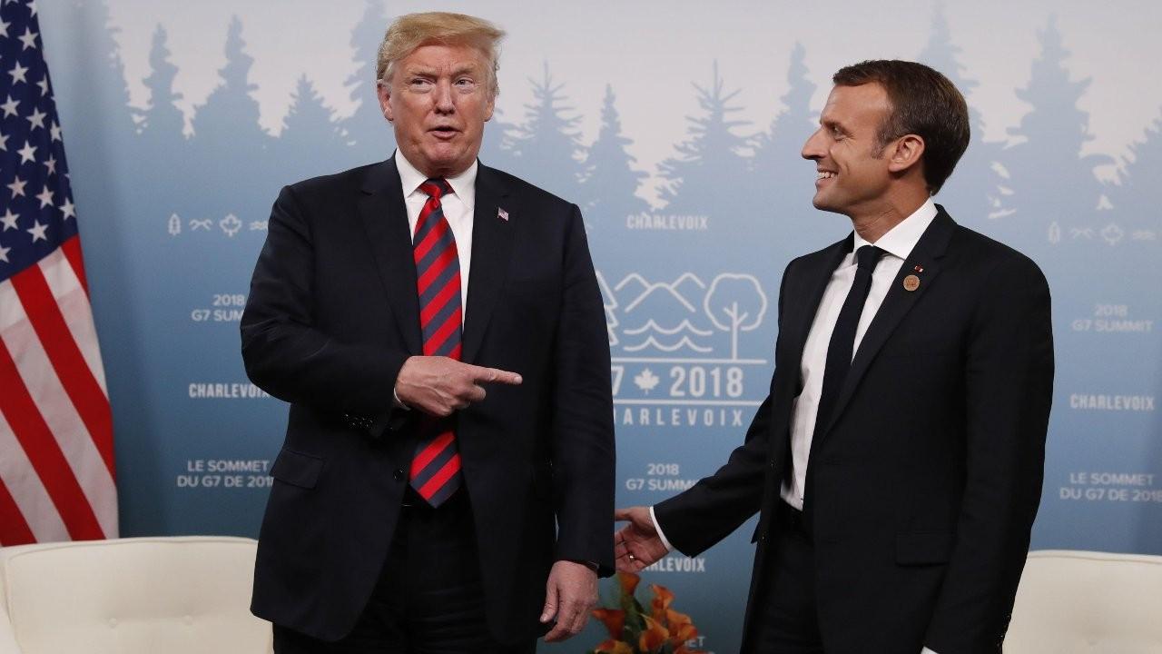 Trump Macron'u 'başbakan' yaptı