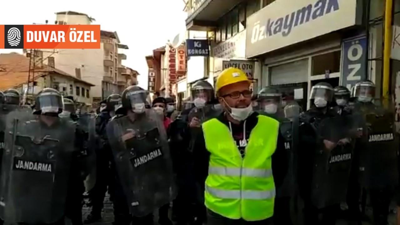 Madenciden jandarmaya: Biz açız o yüzden bağırıyoruz, sen bağıramazsın