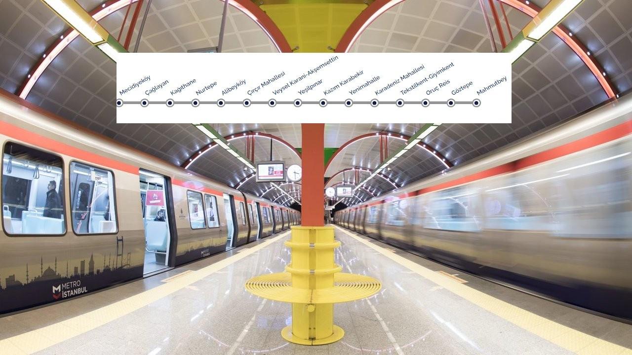 Mecidiyeköy-Mahmutbey metrosu çarşamba günü açılıyor
