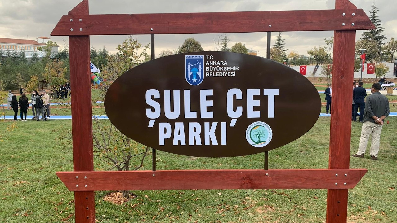 Ankara'da Şule Çet Parkı açıldı