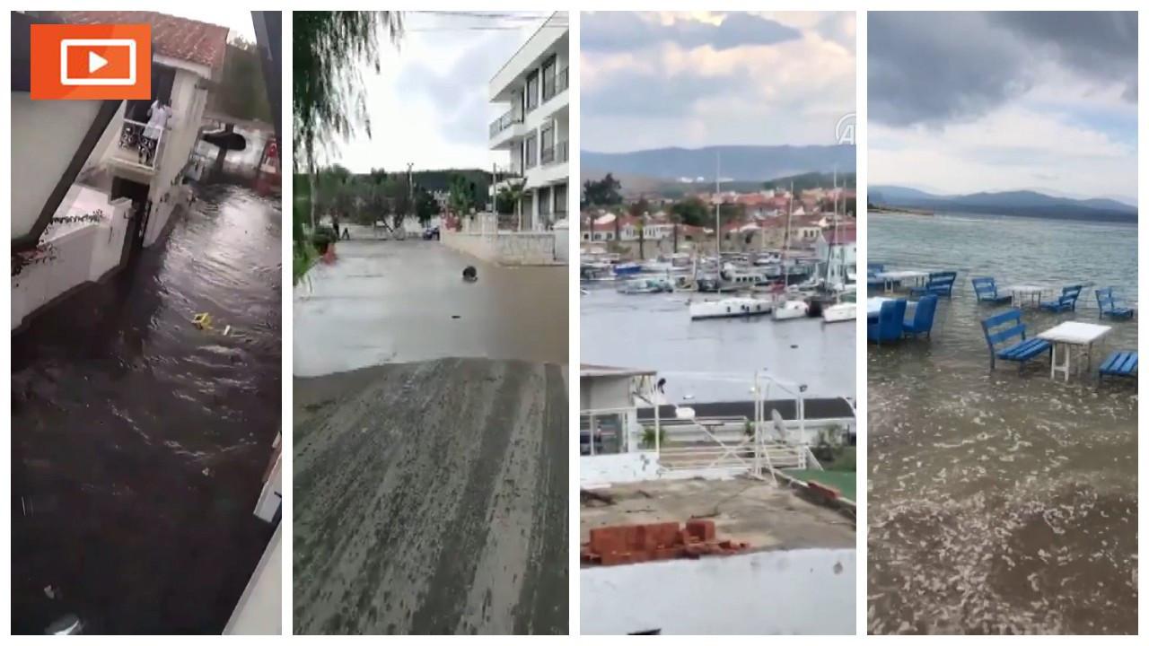 İzmir'de tsunami kamerada
