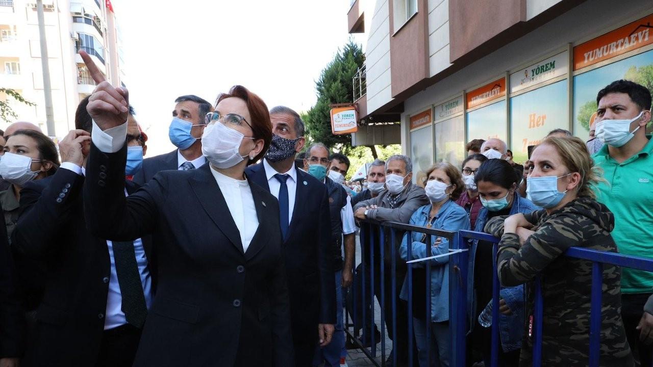 İYİ Parti lideri Meral Akşener deprem bölgesinde