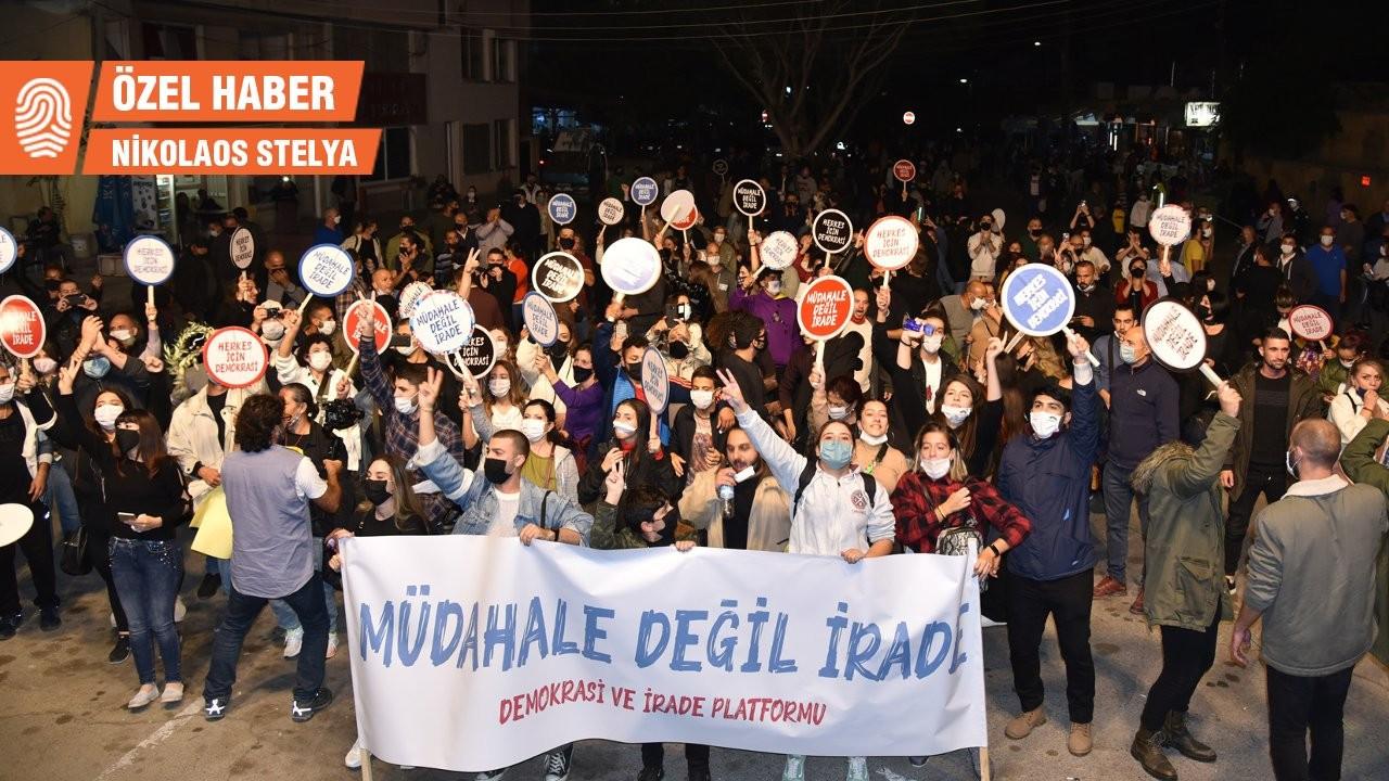 KKTC'de Ankara'ya karşı eylem: 'Müdahale değil, irade'