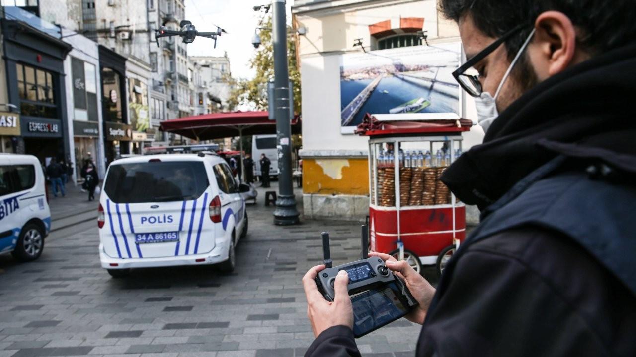 Taksim'de drone'lu kaymakamlı sigara denetimi
