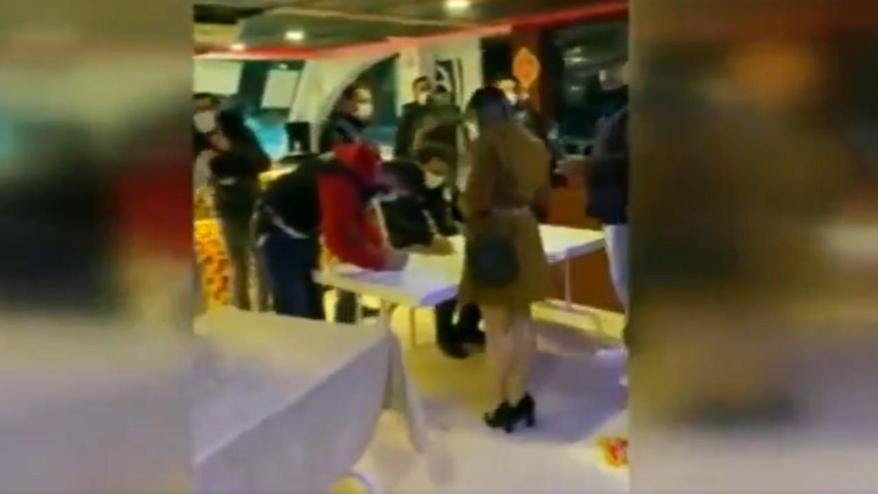 Boğaz'da 93 kişilik korona partisi