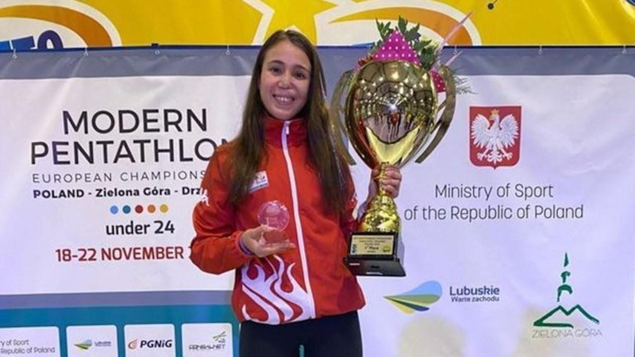 Modern pentatloncu İlke Özyüksel, 24 yaş altında Avrupa şampiyonu oldu