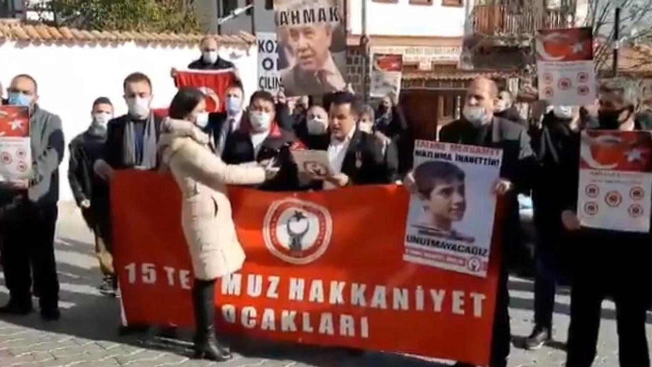 Arınç ofisi önünde protesto edildi