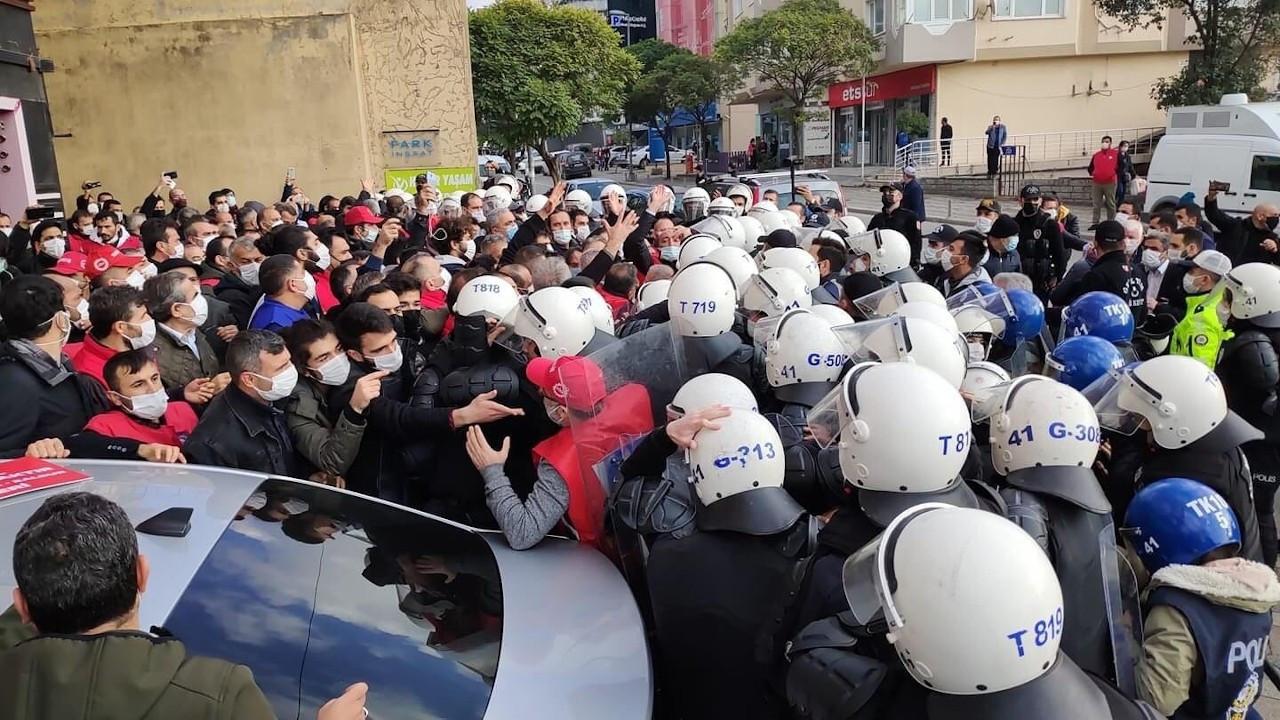Metal işçilerine yürüyüş engeli: 109 işçi gözaltında