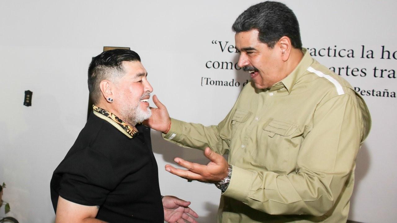 Maduro: Maradona, Venezuela'ya yiyecek getirmek için yardım etti