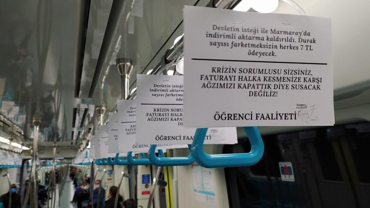 Marmaray'da eylem: Krizin sorumlusu sizsiniz, susacak değiliz