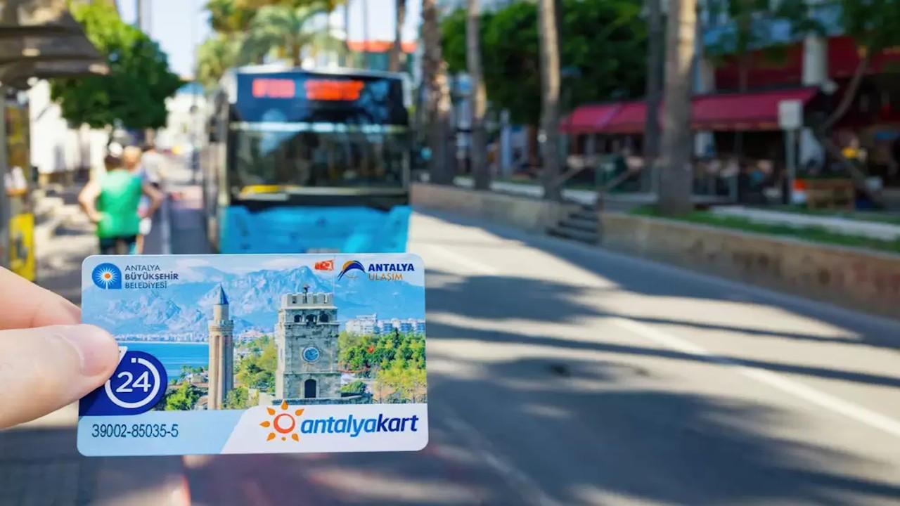 Antalya'da korona önlemi: Ulaşım kartları kapatılıyor